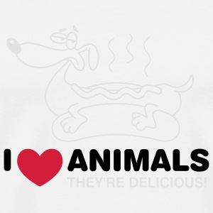 I love animals. They are absolutely delicious! Mugs & Drinkware - Men's Premium T-Shirt