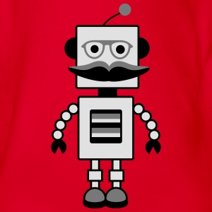 robot Shirts - Organic Short-sleeved Baby Bodysuit