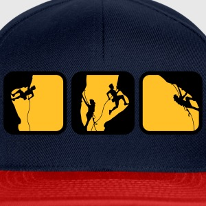 climbing man logos boxes in the evening 3 T-Shirts - Snapback Cap