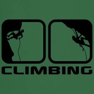 climbing man logos boxes evening climbing 2 T-Shirts - Cooking Apron