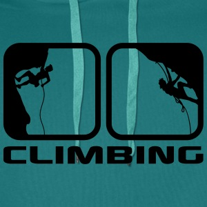 climbing man logos boxes evening climbing 2 T-Shirts - Men's Premium Hoodie
