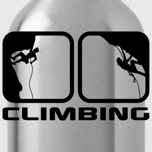 climbing man logos boxes evening climbing 2 T-Shirts - Water Bottle