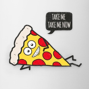 Funny Cartoon Pizza - Statement / Funny / Quote Tröjor - Mugg
