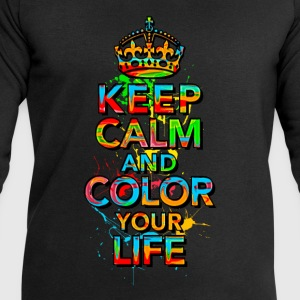 KEEP CALM, music, cool, text, sports, love, retro Tee shirts - Sweat-shirt Homme Stanley & Stella