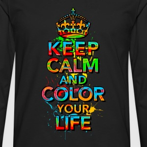 KEEP CALM, music, cool, text, sports, love, retro Tee shirts - T-shirt manches longues Premium Homme