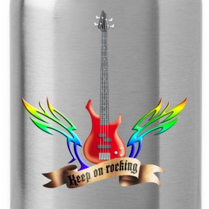 bass_guitar_and_wings_052015_red_c T-Shirts - Trinkflasche