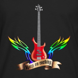 bass_guitar_and_wings_052015_red_c T-Shirts - Männer Premium Langarmshirt