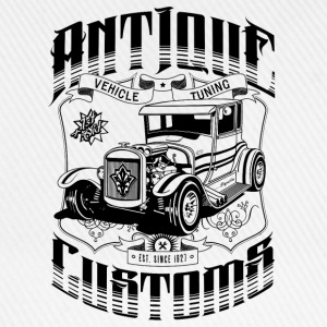Hot Rod - Antique Customs (black) T-Shirts - Baseballkappe
