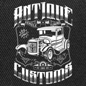 Hot Rod - Antique Customs (white) T-Shirts - Snapback Cap