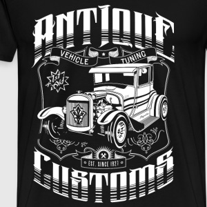 Hot Rod - Antique Customs (white) Pullover & Hoodies - Männer Premium T-Shirt