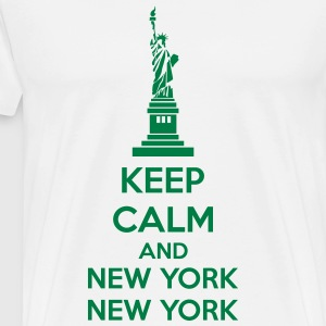 Keep Calm And New York New York Schürzen - Männer Premium T-Shirt