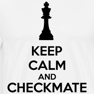 Keep Calm And Checkmate    Aprons - Men's Premium T-Shirt