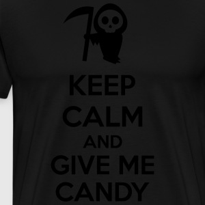 Keep Calm And Give Me Candy Forklær - Premium T-skjorte for menn