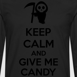 Keep Calm And Give Me Candy Kookschorten - Mannen Premium shirt met lange mouwen