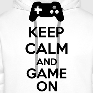 Keep Calm And Game On Tabliers - Sweat-shirt à capuche Premium pour hommes