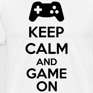 Keep Calm And Game On Tabliers - T-shirt Premium Homme