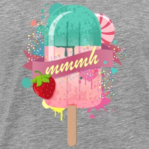 popsicle with strawberry Other - Men's Premium T-Shirt