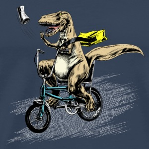 t-rex on a bike - Men's Premium T-Shirt