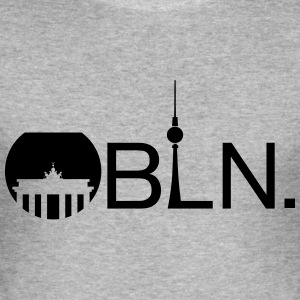 BLN Print - Männer Slim Fit T-Shirt