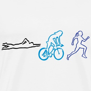 triathlon - woman Tops - Men's Premium T-Shirt