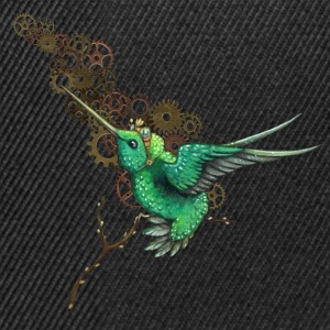 Black Steampunk Hummingbird Hoodies & Sweatshirts - Snapback Cap
