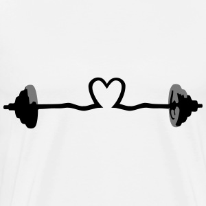 weightlifting - barbell and heart Tröjor - Premium-T-shirt herr