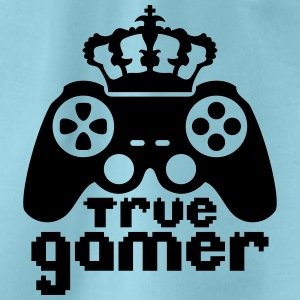 King Crown true gamer controller logo King 8 bit T-Shirts - Drawstring Bag
