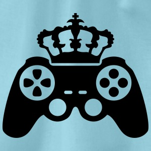 Gamer king Crown true controller logo King 8 bit T-Shirts - Drawstring Bag