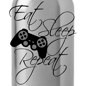 eat sleep game repeat controller text  T-skjorter - Drikkeflaske