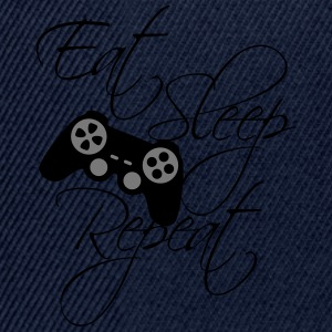 eat sleep game repeat controller text  T-skjorter - Snapback-caps