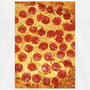 Pepperoni Pizza - Extra Chees (Pattern) Phone Case Mobil- & tablet-covers - Herre premium T-shirt
