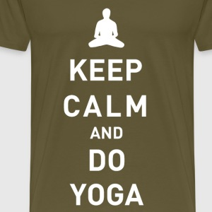 Keep Calm and do Yoga - Männer Premium T-Shirt