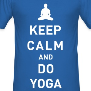 Keep Calm and do Yoga - Männer Slim Fit T-Shirt