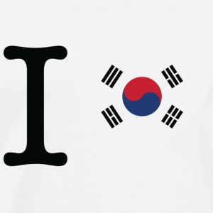 I Love South Korea Sports wear - Men's Premium T-Shirt