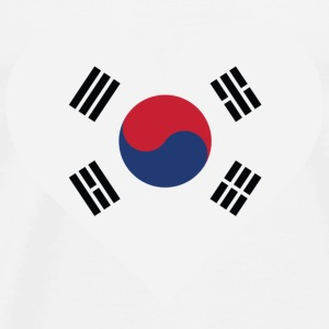 I Love South Korea Long Sleeve Shirts - Men's Premium T-Shirt