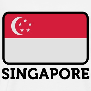 National Flag of Singapore Tops - Men's Premium T-Shirt