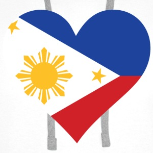 A heart for the Philippines Shirts - Men's Premium Hoodie