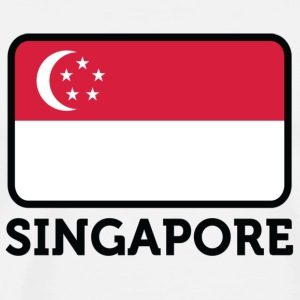 National Flag of Singapore Mugs & Drinkware - Men's Premium T-Shirt