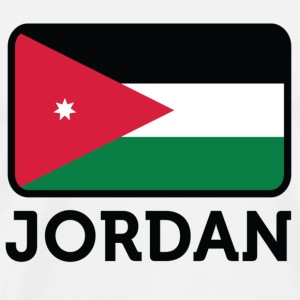 National flag of Jordan Long Sleeve Shirts - Men's Premium T-Shirt