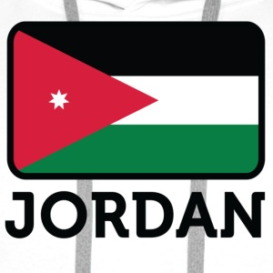 National flag of Jordan T-Shirts - Men's Premium Hoodie