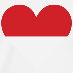 A heart for Indonesia Tank Tops - Men's Premium T-Shirt