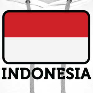 National flag of Indonesia T-Shirts - Men's Premium Hoodie
