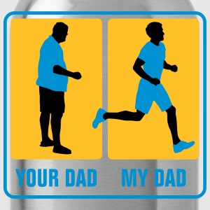 your_dad_my_dad_jogging02_3c T-Shirts - Trinkflasche