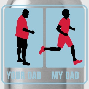 your_dad_my_dad_jogging03_3c T-Shirts - Trinkflasche