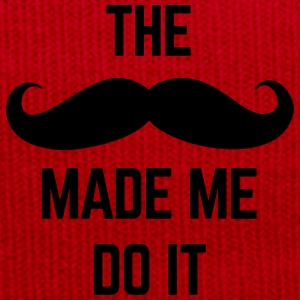 Mustache Made Me Do It  Polo Shirts - Winter Hat