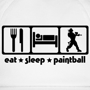 pa02 eat sleep paintball - Baseball Cap
