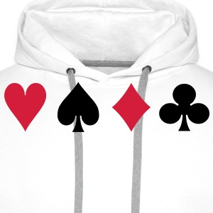 po13 card suits - Men's Premium Hoodie
