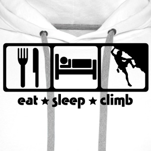 rc02 eat sleep climb - Men's Premium Hoodie