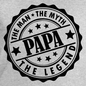 Papa-The Man The Myth The Legend T-Shirts - Men's Sweatshirt by Stanley & Stella