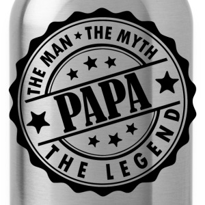 Papa-The Man The Myth The Legend T-Shirts - Water Bottle